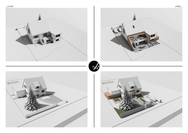 Nouveau projet d 39 extension de maison individuelle for Projet d extension maison