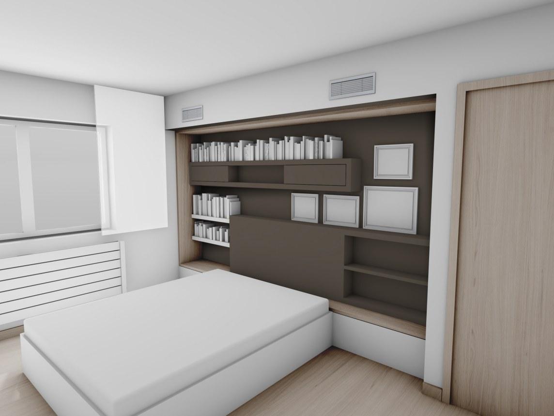 Agencement d une chambre projet 3d chambre tte de lit sur for Agencement chambre