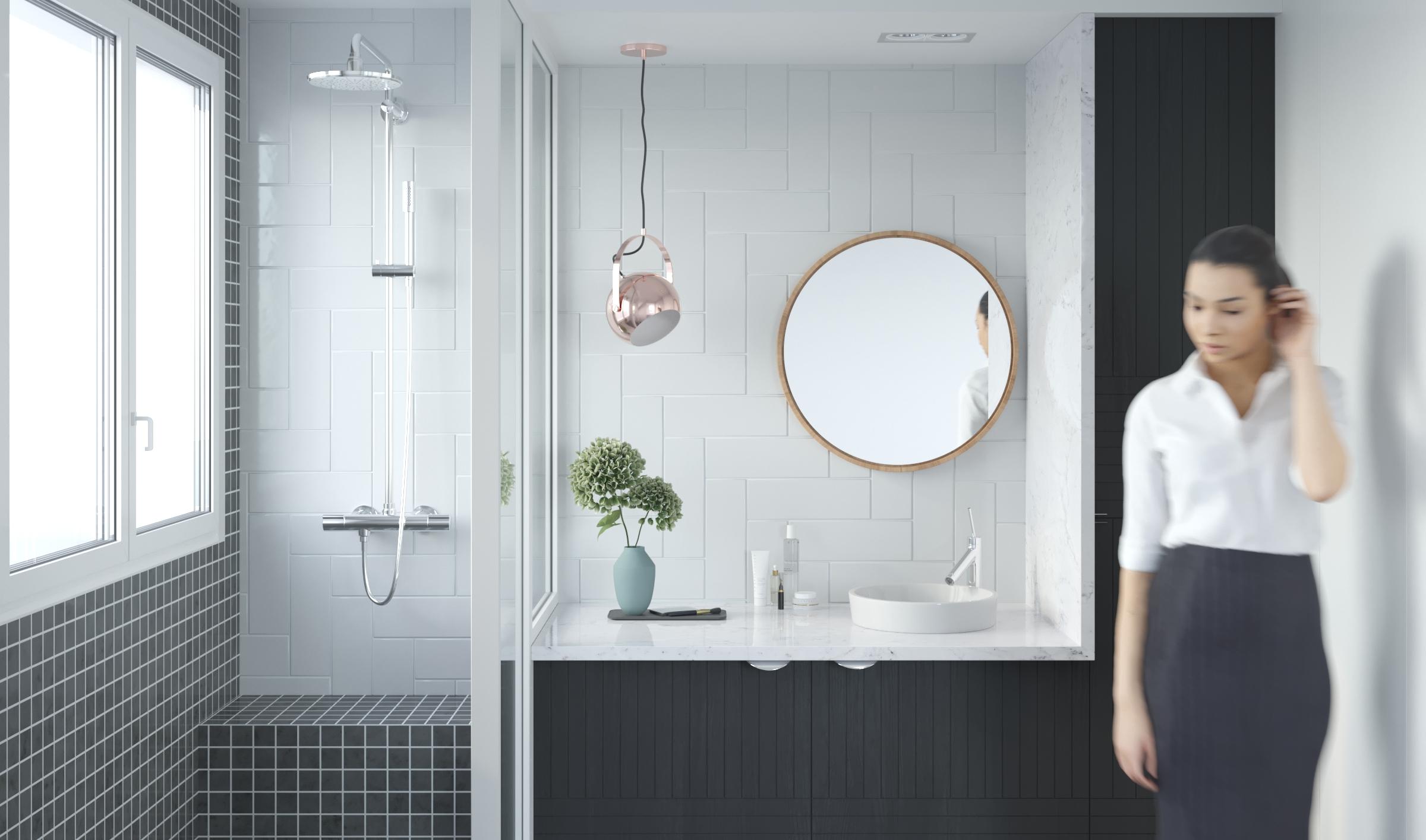 Projet de decoration de salle de bain ekarchitecte for Projet salle de bain