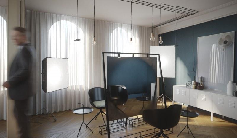 amenagement et decoration d 39 un salon de coiffure. Black Bedroom Furniture Sets. Home Design Ideas