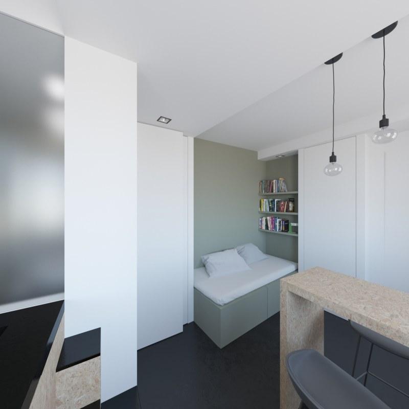 Amenagement d 39 un studio ekarchitecte for Amenagement kitchenette studio