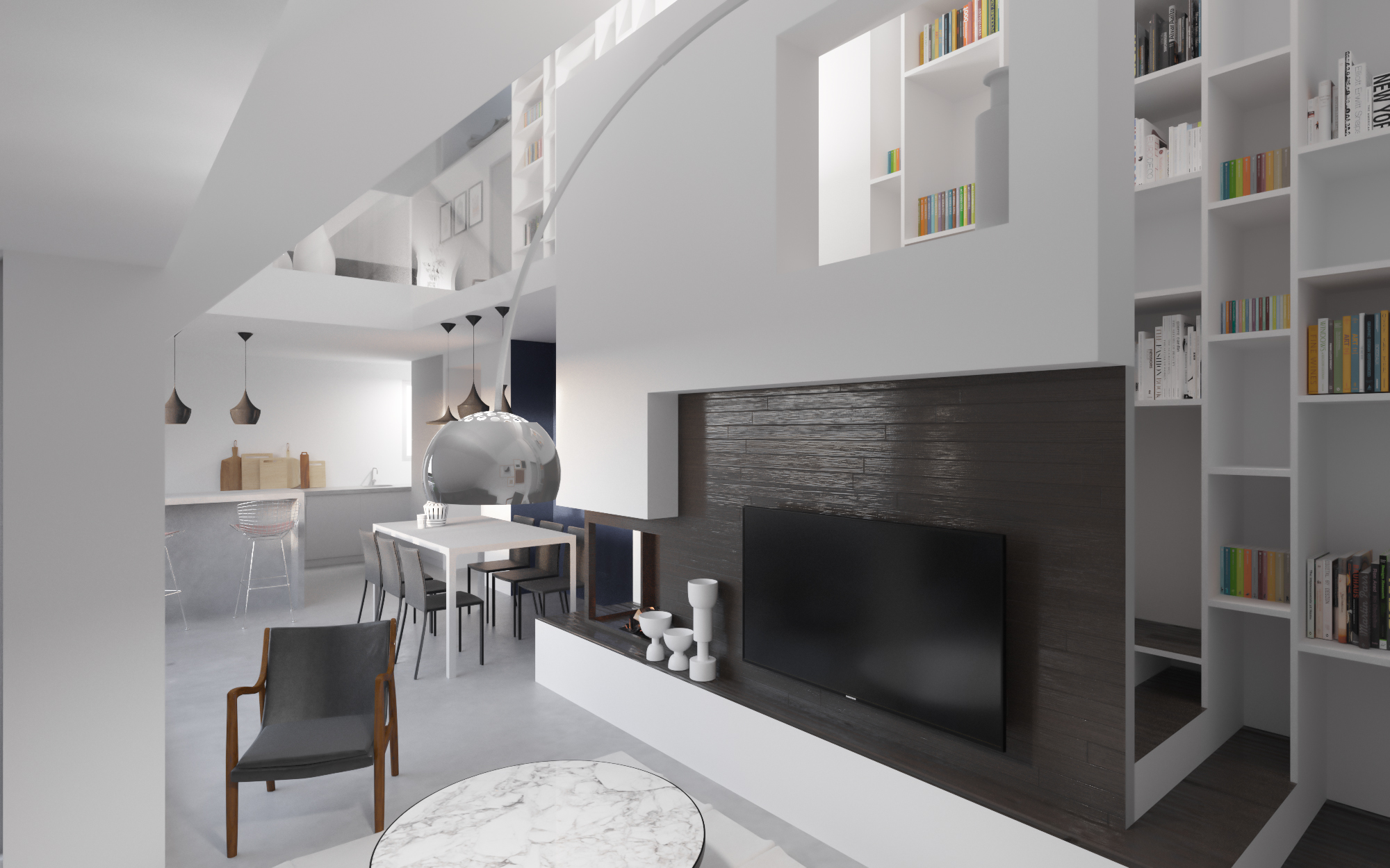 amenagement d 39 un appartement en duplex ekarchitecte. Black Bedroom Furniture Sets. Home Design Ideas